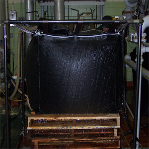 Small Square Dewatering Bag With A Fill Port