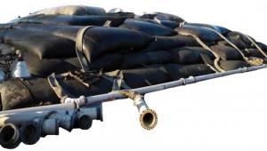 On-Site dewatered sludge storage in dewatering bags